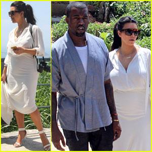 Pregnant Kim Kardashian & Kanye West: Vidigal Tour with Will Smith