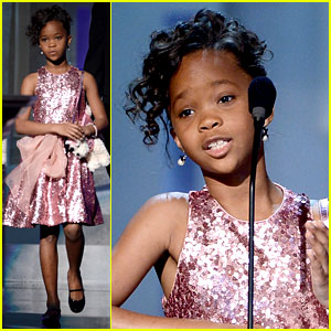 Quvenzhane Wallis Accepts Viola Davis' NAACP Award!