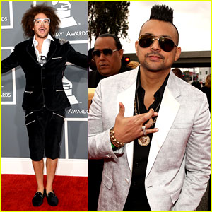 Redfoo & Sean Paul - Grammys 2013 Red Carpet