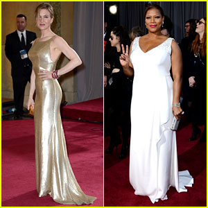 Renee Zellweger & Queen Latifah - Oscars 2013 Red Carpet
