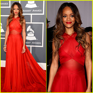 The Grammy's 2013 Celeb trends Rihanna-grammys-2013-red-carpet1
