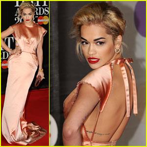 Rita Ora - BRIT Awards 2013 Red Carpet