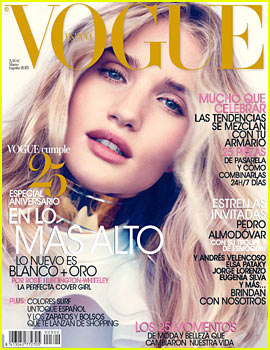 Rosie Huntington-Whiteley Covers 'Vogue Spain' March 2013