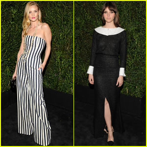 Rosie Huntington-Whiteley & Felicity Jones: Chanel Pre-Oscars Dinner 2013