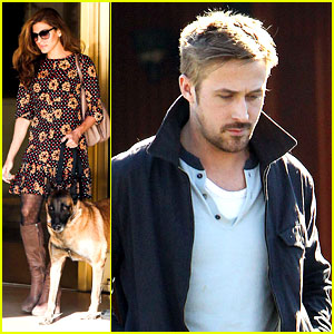 Ryan Gosling Grabs Lunch, Eva Mendes & Hugo Head Out