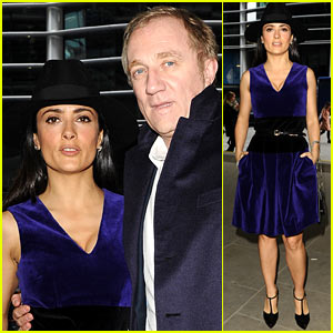 Salma Hayek: Christopher Kane Fashion Show!