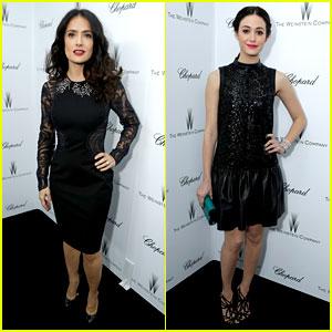 Salma Hayek & Emmy Rossum: Weinstein Pre-Oscars Party 2013!