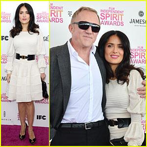 Salma Hayek & Francois-Henri Pinault: Independent Spirit Awards 2013