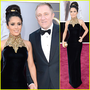 Salma Hayek &#038; Francois-Henri Pinault - Oscars 2013 Red Carpet