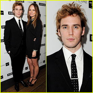 Sam Claflin: InStyle Party with Girlfriend Laura Haddock!