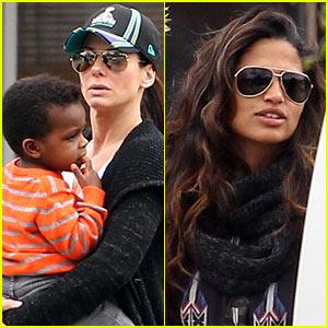Sandra Bullock & Camila Alves: Zoo Trip with the Kids!