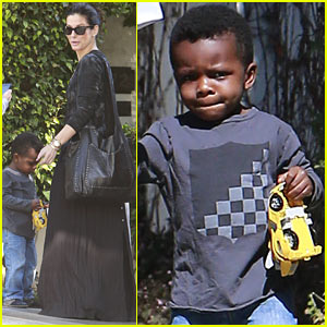 Sandra Bullock & Louis: Charlize Theron House Party Pair