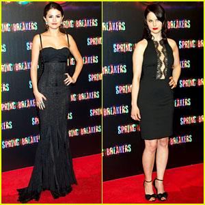 Selena Gomez & Rachel Korine: 'Spring Breakers' Madrid Premiere!