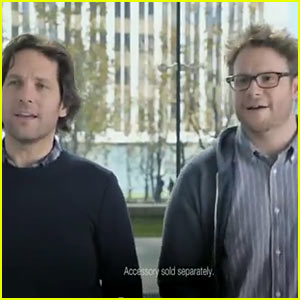 Seth Rogen & Paul Rudd: Samsung Super Bowl Commercial - Watch Now!