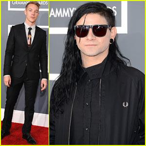 Skrillex & Diplo - Grammys 2013 Red Carpet
