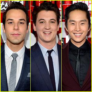 Skylar Astin, Miles Teller, & Justin Chon: '21 & Over' Premiere!