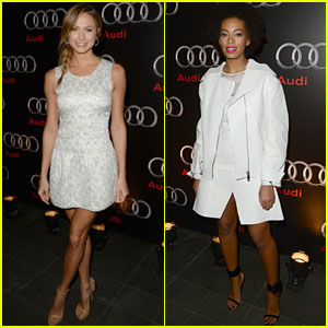 Stacy Keibler & Solange Knowles: Audi Super Bowl Party