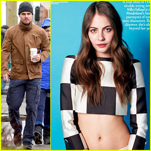 Stephen Amell & Willa Holland Film 'Huge' Episode of 'Arrow'!