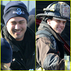 Taylor Kinney Films 'Chicago Fire' While Lady Gaga Gets Hip Surgery