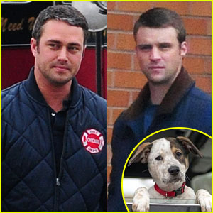 Taylor Kinney & Jesse Spencer: 'Chicago Fire' Casts a Puppy!