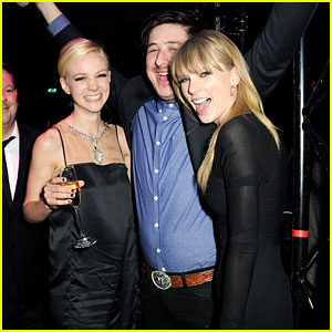 Taylor Swift & Carey Mulligan: BRIT Awards After Party Gals!