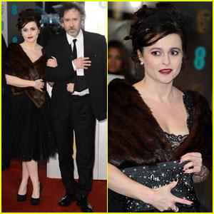 Tim Burton & Helena Bonham Carter  - BAFTAs 2013 Red Carpet