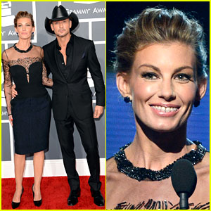 Tim McGraw & Faith Hill - Grammys 2013 Red Carpet