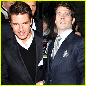 Tom Cruise & Henry Cavill: Pre-BAFTA Dinner in London!
