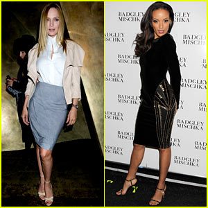 Uma Thurman & Selita Ebanks: Fashion Week Fun!