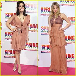 Vanessa Hudgens & Ashley Benson: 'Spring Breakers' Rome Premiere!