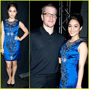 Vanessa Hudgens & Matt Damon: Naeem Khan Fashion Show!