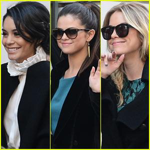 Vanessa Hudgens & Selena Gomez: Paris Radio Station Stop