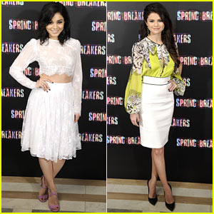 Vanessa Hudgens & Selena Gomez: 'Spring Breakers' Madrid Photo Call!