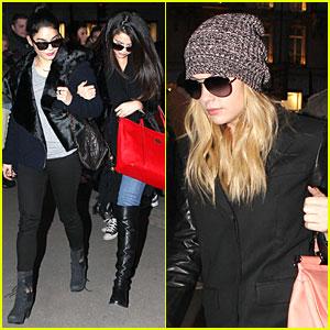 Vanessa Hudgens & Selena Gomez: 'Spring Breakers' Paris Dinner!