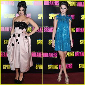 Vanessa Hudgens & Selena Gomez: 'Spring Breakers' Paris Premiere!