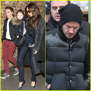 Victoria Beckham & Harper: London Eurostar Arrival with Brooklyn!