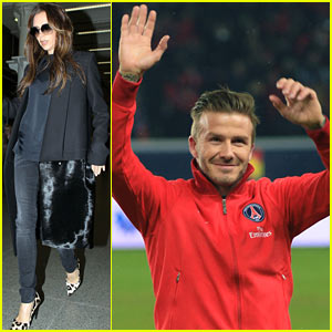 Victoria Beckham Leaves Paris After David Beckham's PSG Win!
