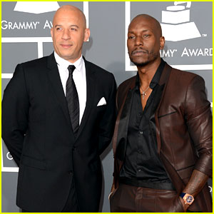 Vin Diesel &#038; Tyrese Gibson - Grammys 2013 Red Carpet