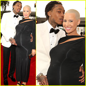Wiz Khalifa & Amber Rose - Grammys 2013 Red Carpet