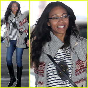 Zoe Saldana: Beverly Hills Beauty!