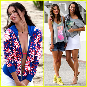 Adriana Lima & Alessandra Ambrosio: VS Beach Shoot!