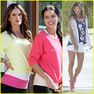 Alessandra Ambrosio & Adriana Lima: Bright 'VS' Photo Shoot!