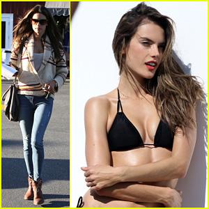 Alessandra Ambrosio: Bikini Photo Shoot in Malibu Beach!
