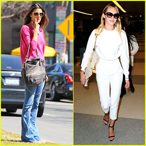Alessandra Ambrosio & Candice Swanepoel: Solo Outings!
