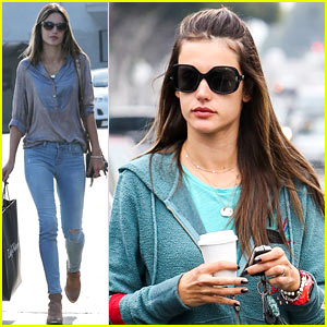 Alessandra Ambrosio: Coffee & Shopping Stops!