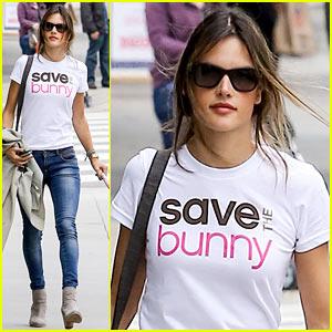 Alessandra Ambrosio: 'Save the Bunny' Beauty!