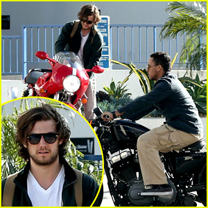 Alex Pettyfer & Connor Cruise: Motorcycle Buddies!