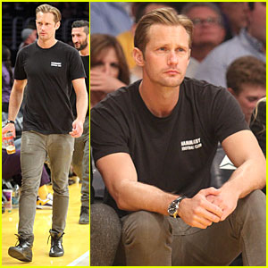 Alexander Skarsgard: Lakers Game Spectator!