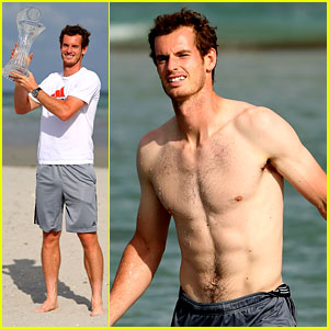 Andy Murray: Shirtless Victory Swim After Sony Open Win!