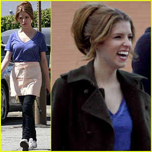 Anna Kendrick: 'Cups' Music Video Shoot!